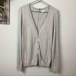 Cabi Button down back zipper cardigan sweater M